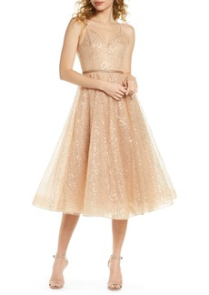 Bronx and Banco Cindy Sequin Fit & Flare Cocktail Dress