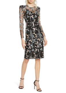 Bronx and Banco Louise Long Sleeve Floral Lace Dress