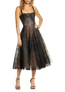 Bronx and Banco Mademoiselle Noir Sequin Cocktail Dress