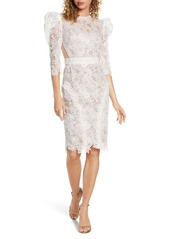 Bronx and Banco Medeleine Puff Sleeve Lace Dress