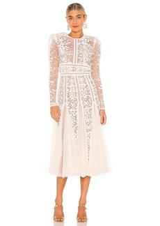 Bronx and Banco Megan Bridal Midi Dress