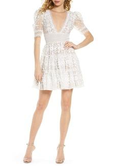 Bronx and Banco Megan Floral Lace Minidress