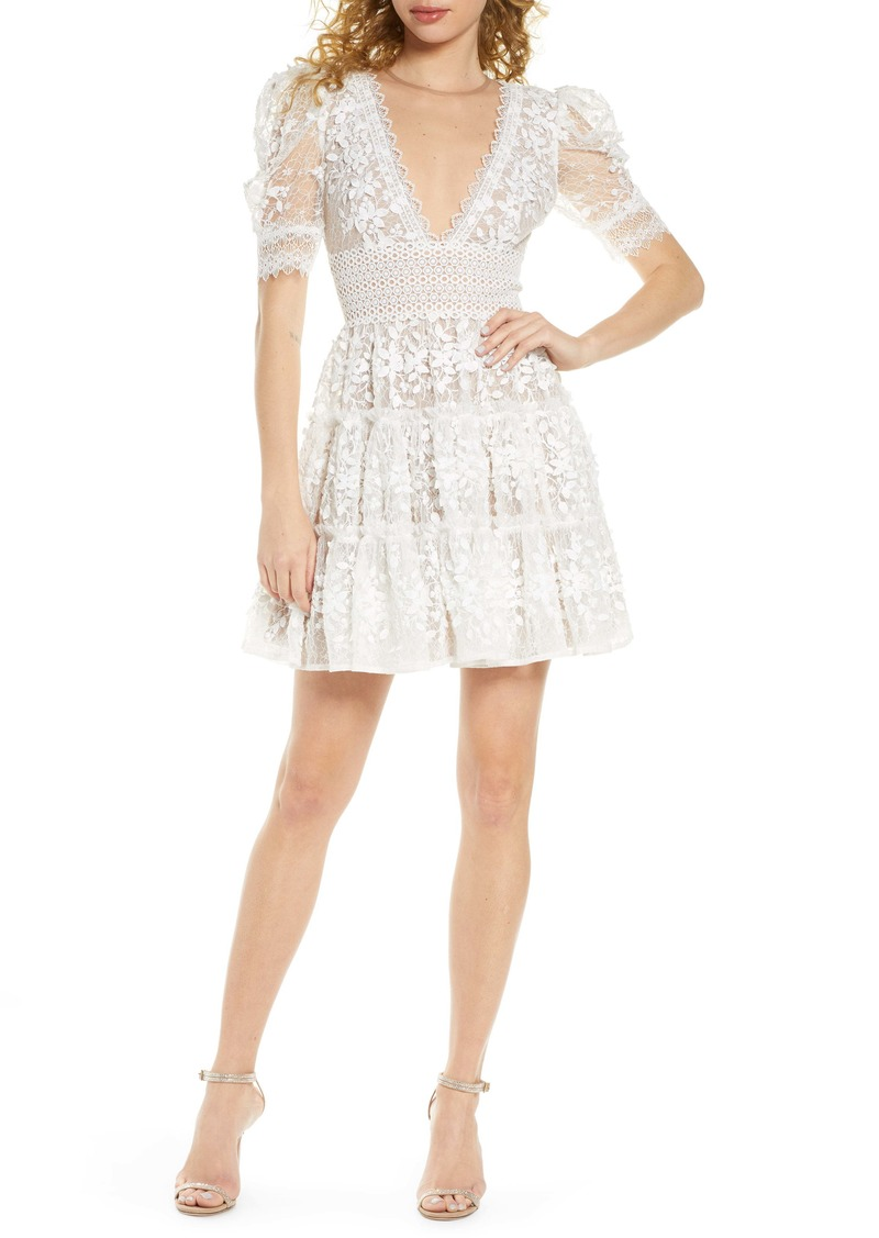Bronx and Banco Megan Floral Lace Minidress