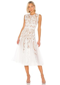 Bronx and Banco Saba Blanc Midi Dress