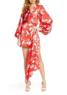 Bronx and Banco Tokyo Long Sleeve Silk Blend Minidress