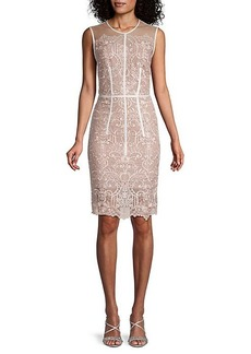 Bronx and Banco Venice Lace Sheath Dress