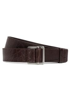 Brooks Brothers Alligator Square Ring Belt