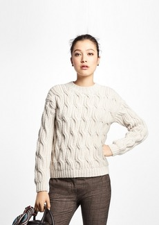 Brooks Brothers Alpaca Handknit Cable Sweater