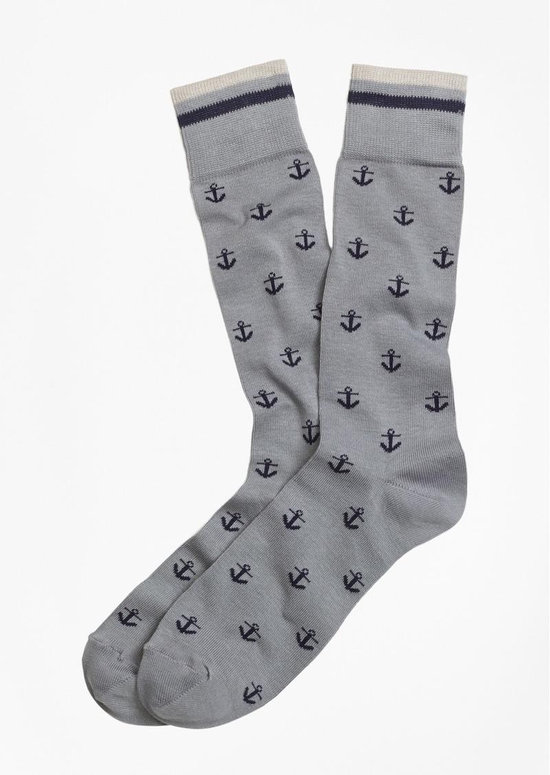 Brooks Brothers Anchor Crew Socks