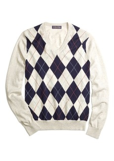 Brooks Brothers Argyle V-Neck Sweater
