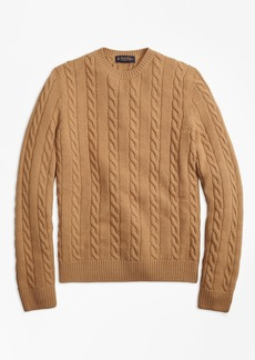Brooks Brothers Baby Alpaca Blend Cable Knit Crewneck Sweater