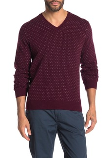 Brooks Brothers Birdseye Micro Dot Wool Blend Sweater