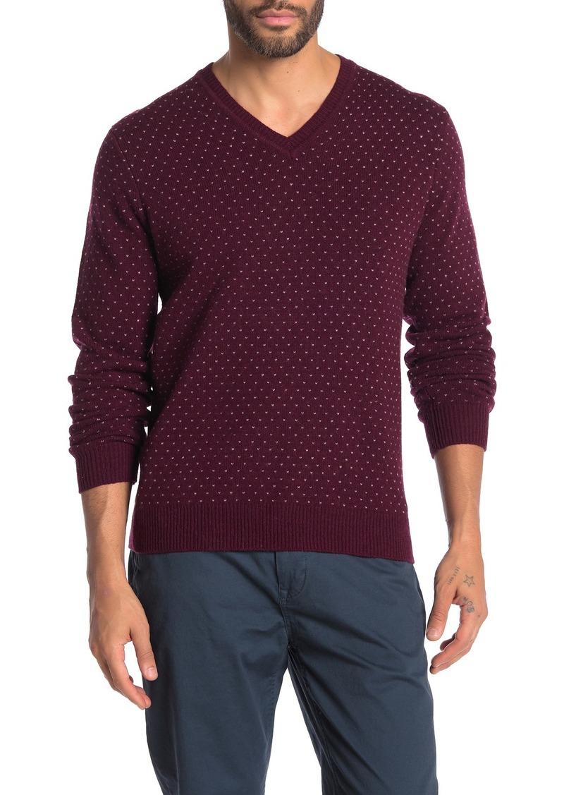 Brooks Brothers Birdseye Micro Dot Wool Blend Sweater