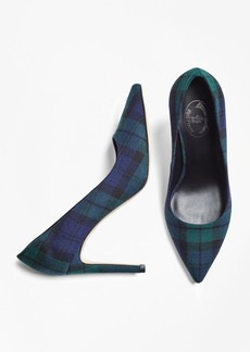 Brooks Brothers Black Watch Wool Pumps