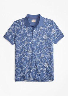 Brooks Brothers Botanical-Print Cotton Jersey Polo Shirt