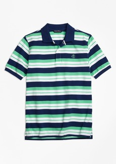 Brooks Brothers Boys Alternate Stripe Pique Polo Shirt