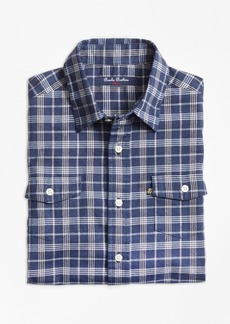 Brooks Brothers Boys Classic Check Flannel Sport Shirt