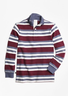 Brooks Brothers Boys Classic Stripe Mockneck Rugby