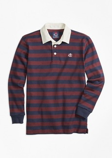 Brooks Brothers Boys Classic Striped Rugby