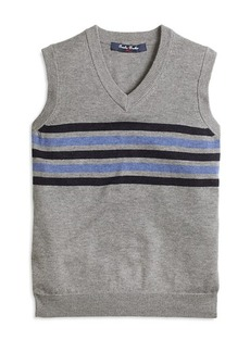 Brooks Brothers Boys Cotton and Wool Chest Stripe Vest