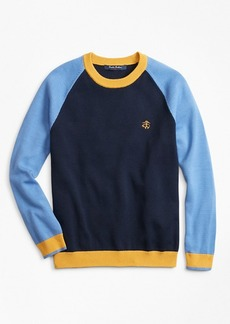Brooks Brothers Boys Cotton Color-Block Sweater