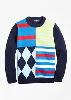 Brooks Brothers Boys Cotton Crewneck Fun Sweater