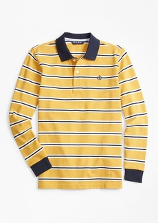 Brooks Brothers Boys Cotton Long-Sleeve Stripe Polo Shirt