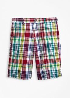 Brooks Brothers Boys Cotton Madras Seersucker Shorts