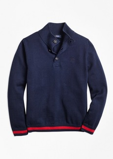Brooks Brothers Boys Cotton Mockneck Sweater