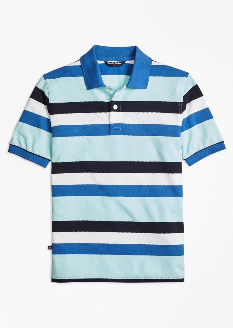 Brooks Brothers Boys Cotton Multi Stripe Polo
