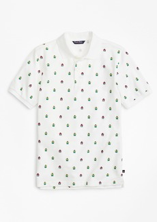 Brooks Brothers Boys Cotton Pique Bug Print Polo