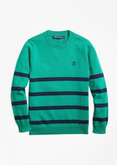 Brooks Brothers Boys Cotton Stripe Crewneck Sweater