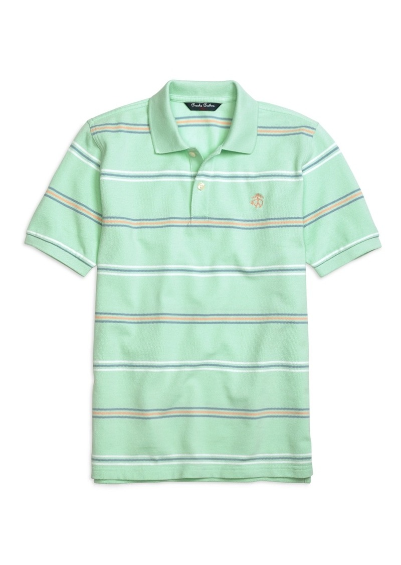 Brooks brothers boys cotton stripe polo shirt tshirts for Brooks brothers boys shirts