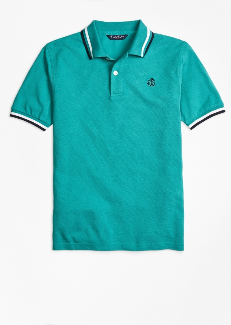 Brooks Brothers Boys Cotton Tipped Polo