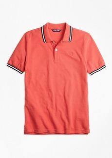 Brooks Brothers Boys Cotton Tipped Polo Shirt