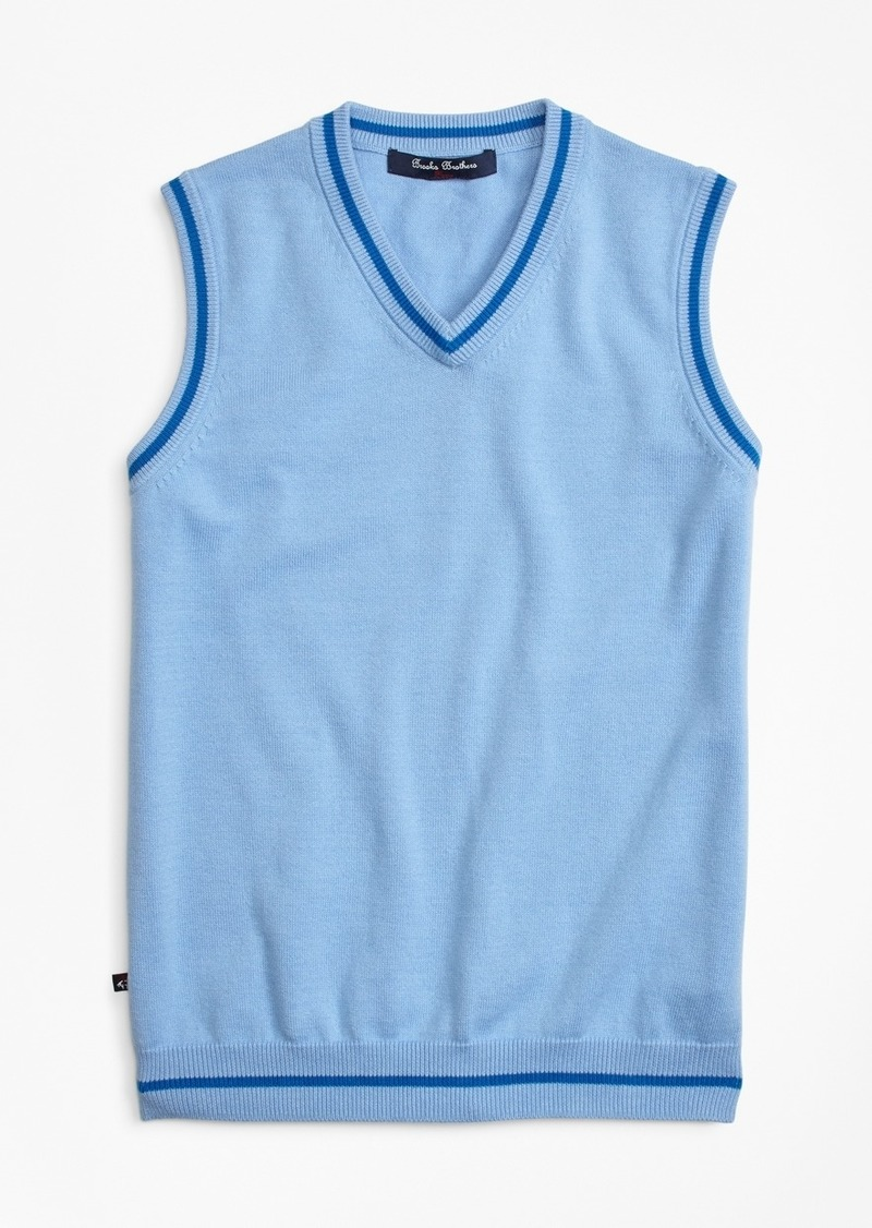 Brooks Brothers Boys Cotton Tipped Vest