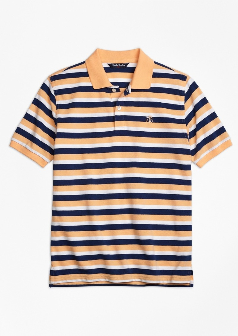 On Sale Today Brooks Brothers Boys Double Stripe Pique Polo Shirt