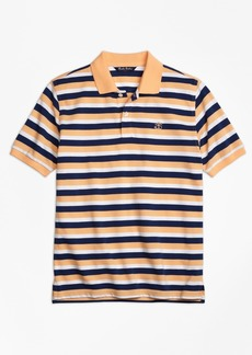 Brooks Brothers Boys Double Stripe Pique Polo Shirt