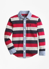 Brooks Brothers Boys Full Placket Rugby Shirt