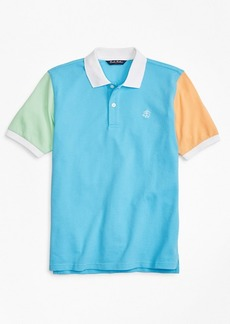 Brooks Brothers Boys Fun Cotton Pique Polo Shirt