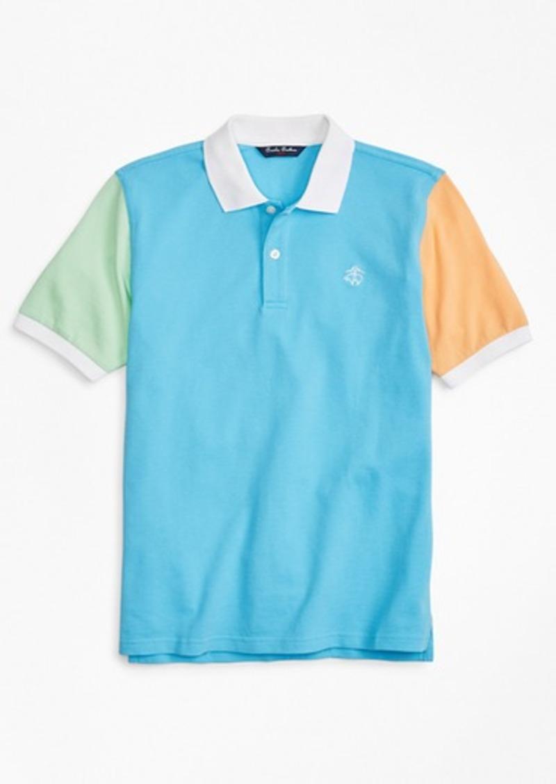 Brooks Brothers Boys Fun Cotton Pique Polo Shirt