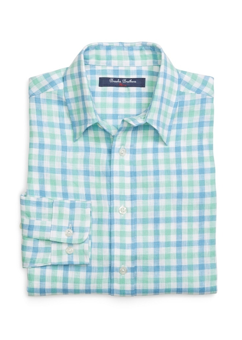 On sale today brooks brothers boys linen gingham sport shirt for Brooks brothers boys shirts