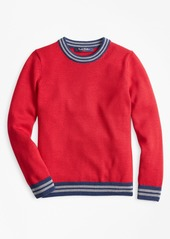 Brooks Brothers Boys Merino Wool-Blend Crewneck Sweater