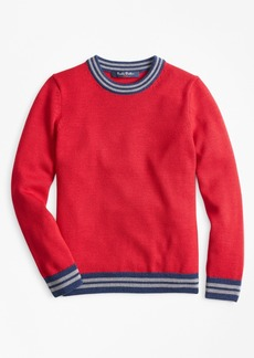 Brooks Brothers Boys Merino Wool-Blend Crewneck Sweater