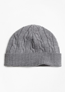 Brooks Brothers Boys Merino Wool Cable Hat