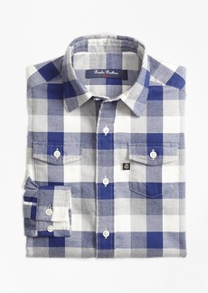 Brooks Brothers Boys Multiplaid Flannel Sport Shirt