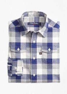 Brooks Brothers Boys Multiplaid Flannel Sport Shirt