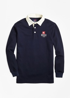 Brooks Brothers Boys Nautical Flag Rugby Shirt