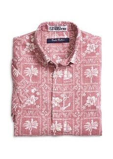 Brooks Brothers Boys Nautical Print Sport Shirt