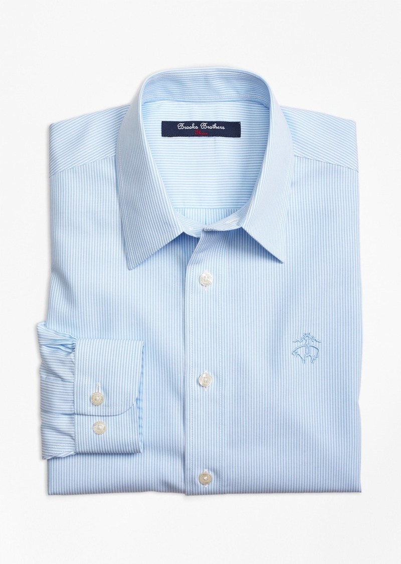 Brooks Brothers Boys Non-Iron Bengal Stripe Sport Shirt